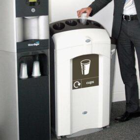 Урна-контейнер для пластиковых стаканчиков NEXUS 100 CUP R