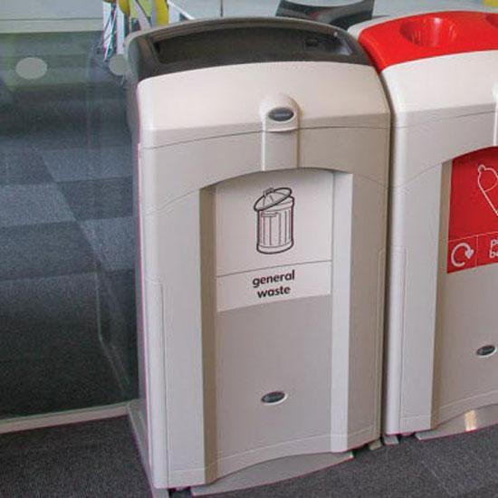 Большая урна для общего мусора NEXUS 100 литров GLASDON