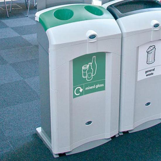 Большие мусорные урны для бутылок из стекла для помещений NEXUS 100 GLASDON