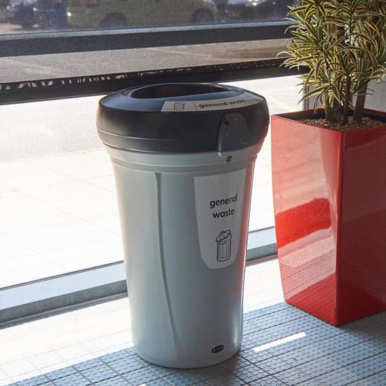 Цилиндрическая мусорная урна для помещений NEXUS 130 литров