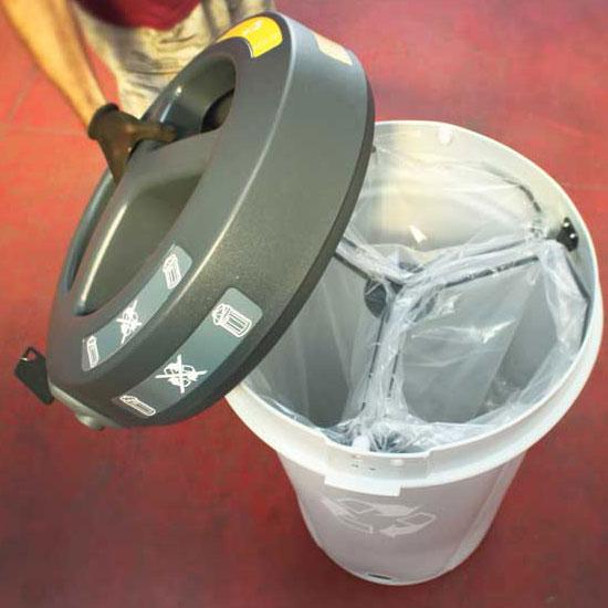Раздельная урна на 3 вида мусора с открытым верхом NEXUS 130 TRIO