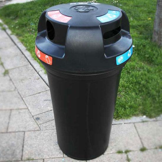 Урна для трех типов мусора в одном баке NEXUS 130 Trio Open