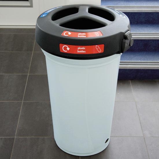 Урна для трех видов мусора NEXUS 130 TRIO open