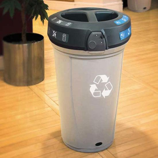 Урна для раздельного сбора в помещении 3 вида мусора NEXUS 130 TRIO