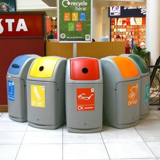 Урны для мусора большой вместимости GLASDON NEXUS 140