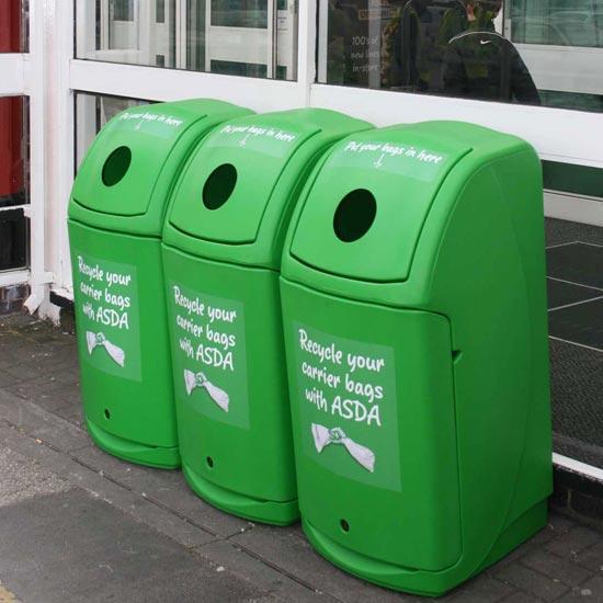 Урны мусорные раздельные большие NEXUS 140 GLASDON