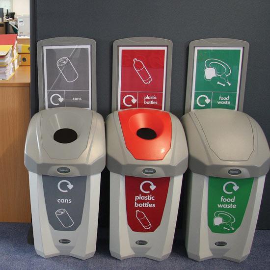 Раздельные мусорные урны для алюминия, пластика и органики NEXUS 30 GLASDON