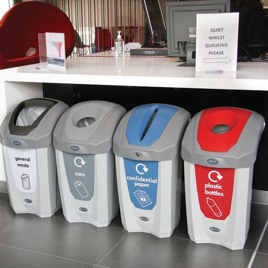 Раздельные урны для мусора в кабинет Glasdon NEXUS 30