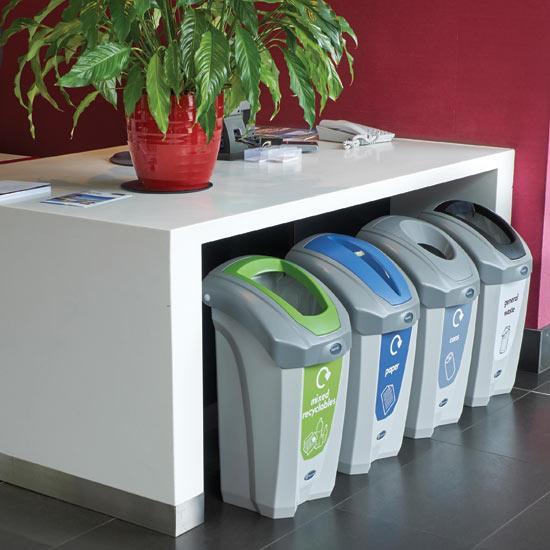 Урны внутренние для раздельного сбора мусора в коридор NEXUS 30 GLASDON