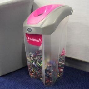 Прозрачные мусорные контейнеры для сбора батареек NEXUS 30 GLASDON