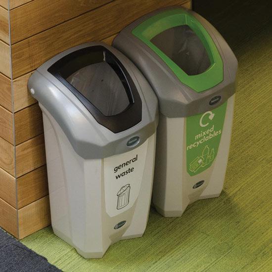 Урны для раздельного сбора мусора в кабинетах NEXUS 30 Glasdon