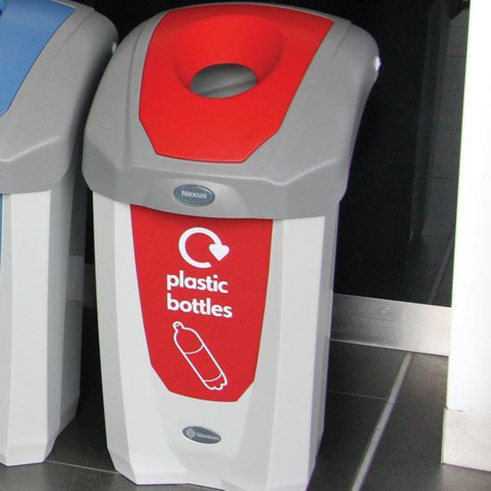 Урна для пластиковых бутылок раздельного сбора мусора в кабинетах NEXUS 30