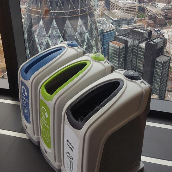 Урны для установки в коридорах для раздельного мусора NEXUS 30 Англия