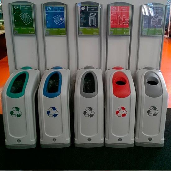 Раздельный коридорные урны для мусора NEXUS 50 GLASDON