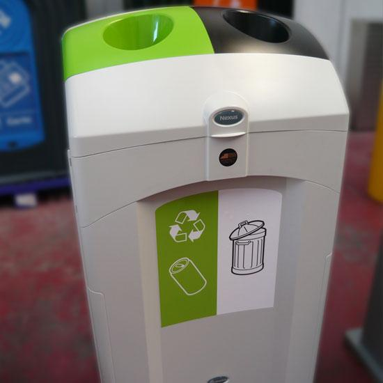 Внутренняя мусорная урна на 2 раздельных вида NEXUS DUO 100 литров