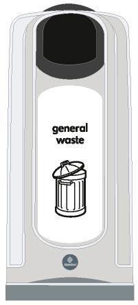 Урны для общего мусора в коридорах NEXUS50
