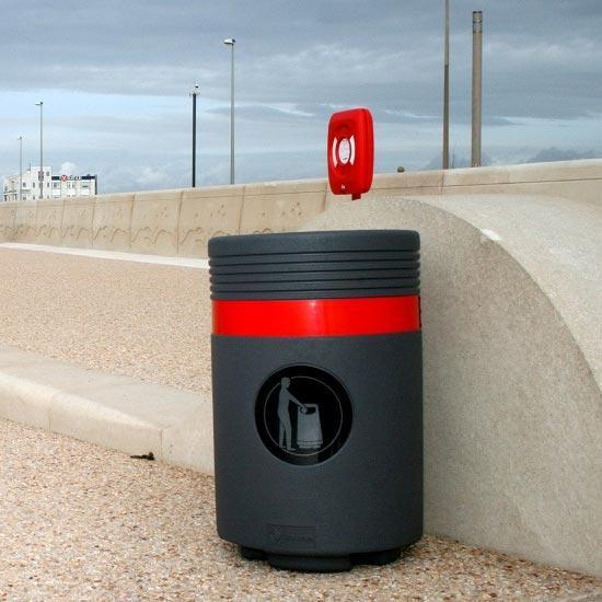 Урна для сбора уличного мусора 85 литров ADMIRAL