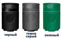 Черные серые и зеленые урны ADMIRAL