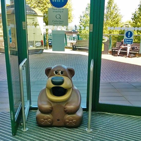 Урна для сбора мусора медведь