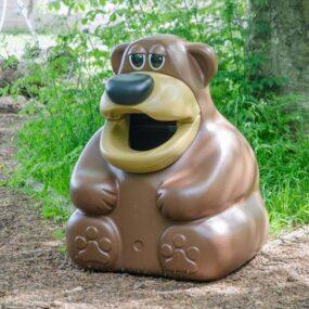 Уличная мусорная урна для детских площадок Медведь