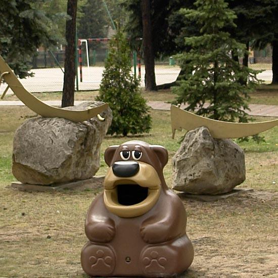 Урна для парков и детских площадок GLASDON медведь