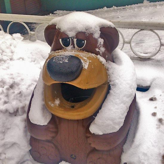 Урна для мусора коричневый медведь