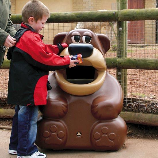 Детская мусорная урна Медведь