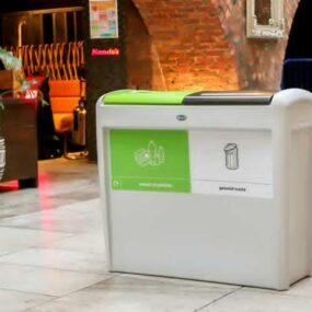 Двойная мусорная урна для помещений GLASDON EVO