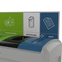 Задняя стойка для указания типов мусора в урне