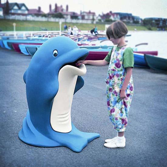 Мусорная урна для детских площадок Дельфин