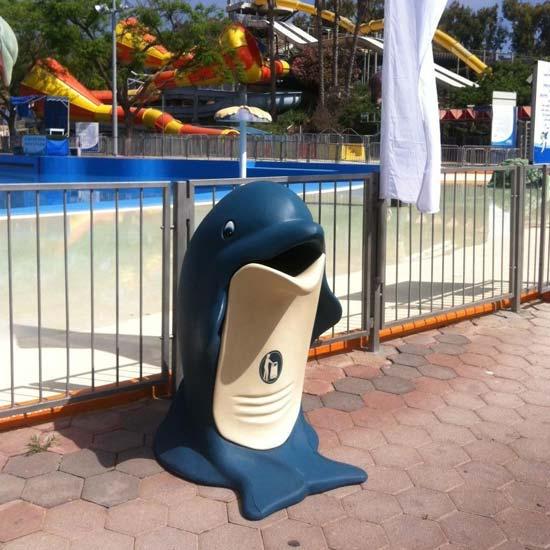 Уличная детская урна дельфин GLASDON