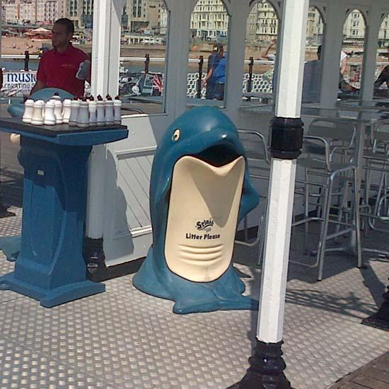 Урна для сбора мусора дельфин Glasdon