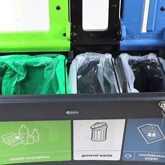 Внутренняя мусорная урна для трех видов мусора EVO