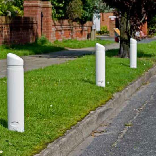 Белый уличный столбик Edgemaster