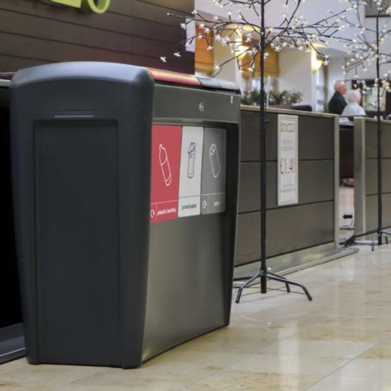 Тройная мусорная урна для помещений NEXUS Evolution GLASDON