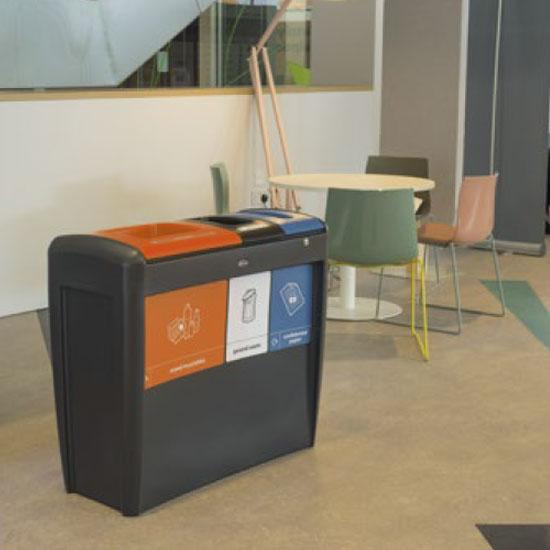 Мусорная урна на 3 типа отходов EVO GLASDON