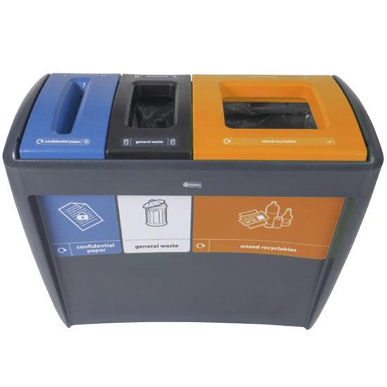 Урна для сбора трех видов отходов EVO GLASDON