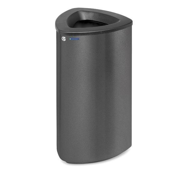 Черная стальная мусорная урна FINBIN