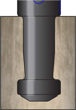 Система крепления столбика к поверхности