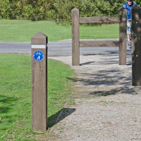 Дорожный барьерный разделительный столбик GlenWood
