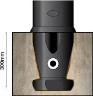 Уличный столбик ограждения ADV NEO 150