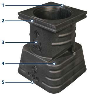Цоколь для бетонирования столбика GLASDON