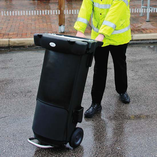Уличная мусорная тележка для дворника Mobilo