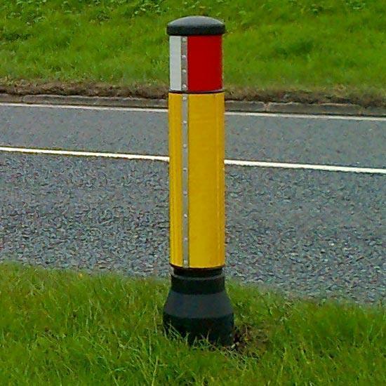 Дорожный разделительный столбик уличный светоотражающий GLASDON
