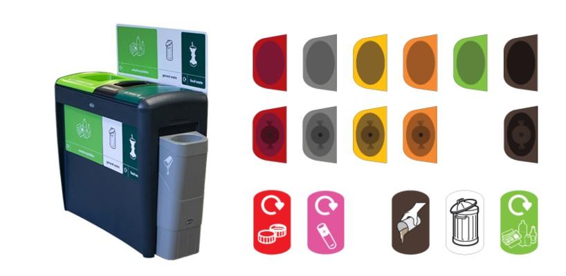 Дополнительные боковые баки мусорной урны