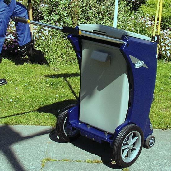 Уличная мусорная тележка для дворников Skiper