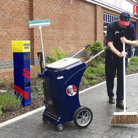 Уличная тележка для уборки мусора Skiper