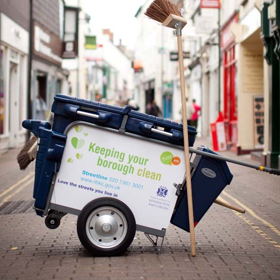 Уличная тележка для уборки мусора GLASDON Spaceliner