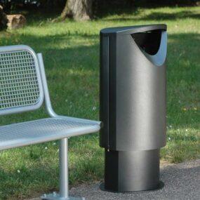 Дизайнерская металлическая уличная урна Эллипс 60