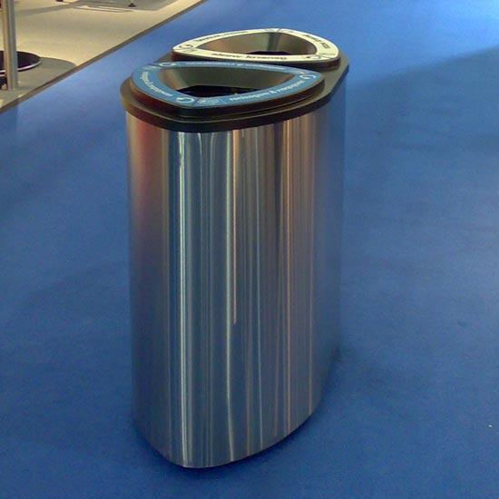 двойная нержавеющая мусорная урна FINBIN